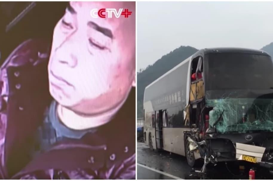 Conductor se queda dormido.