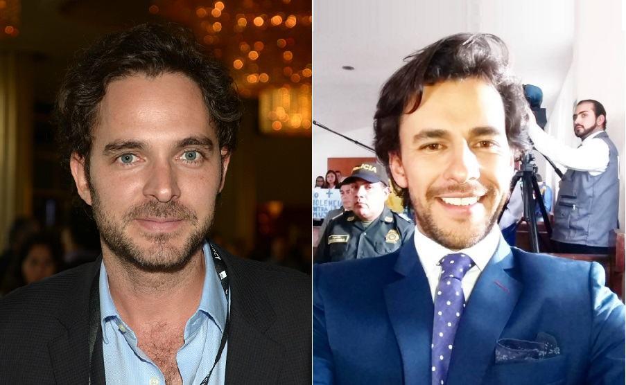 Manolo Cardona e  Iván López, actores colombianos.
