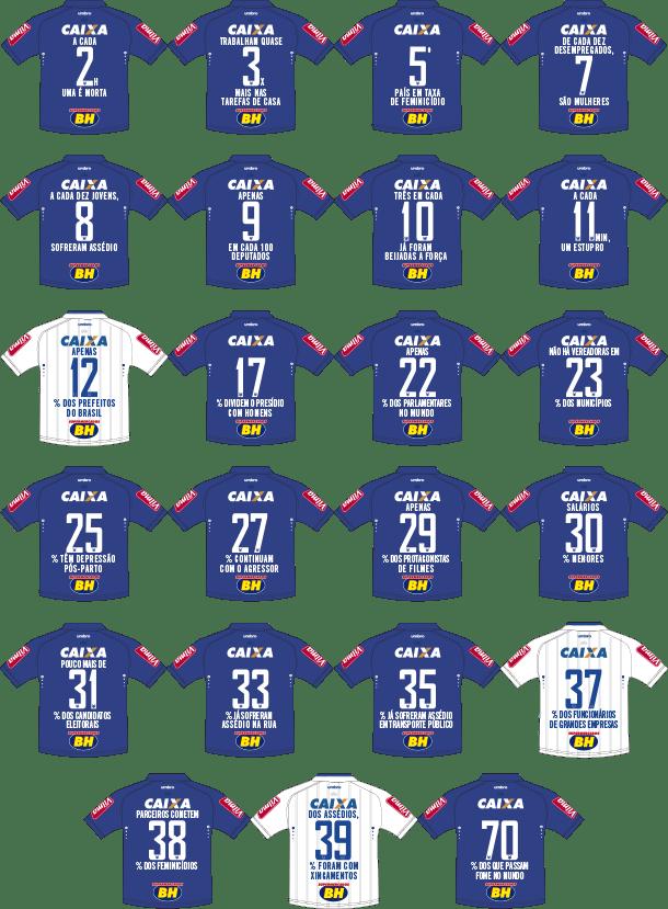 Camisetas Cruzeiro