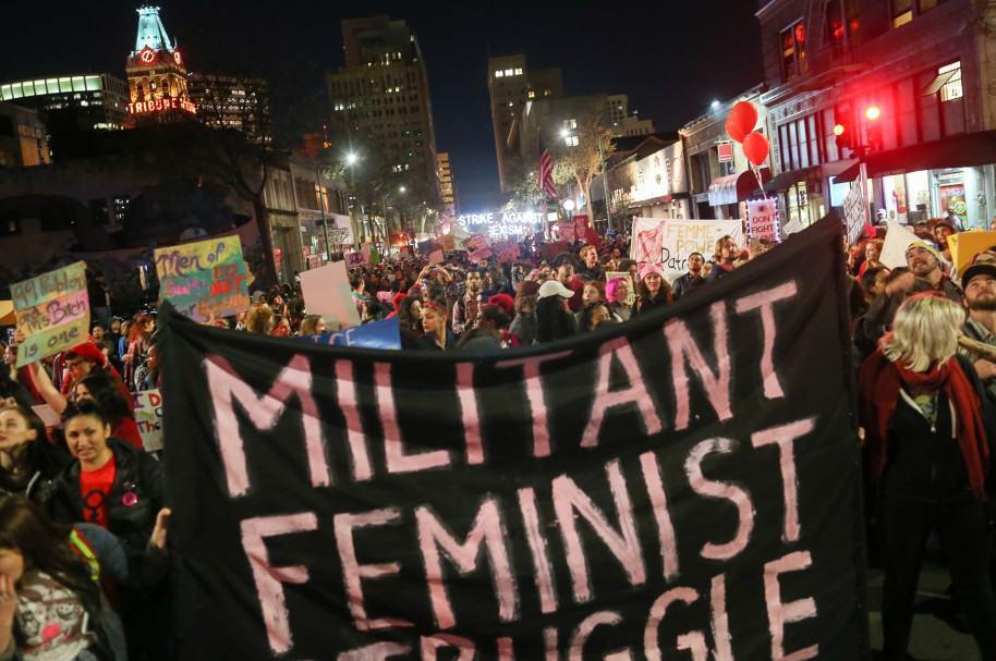 Marchas del día de la mujer, en Estados Unidos