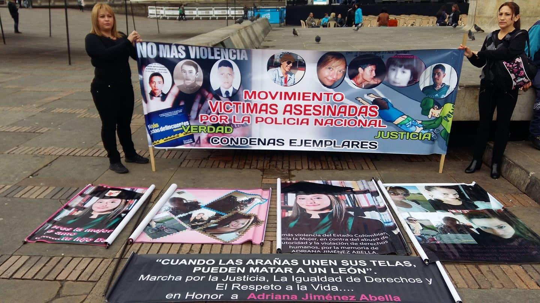 Manifestación en la Plaza de Bolívar