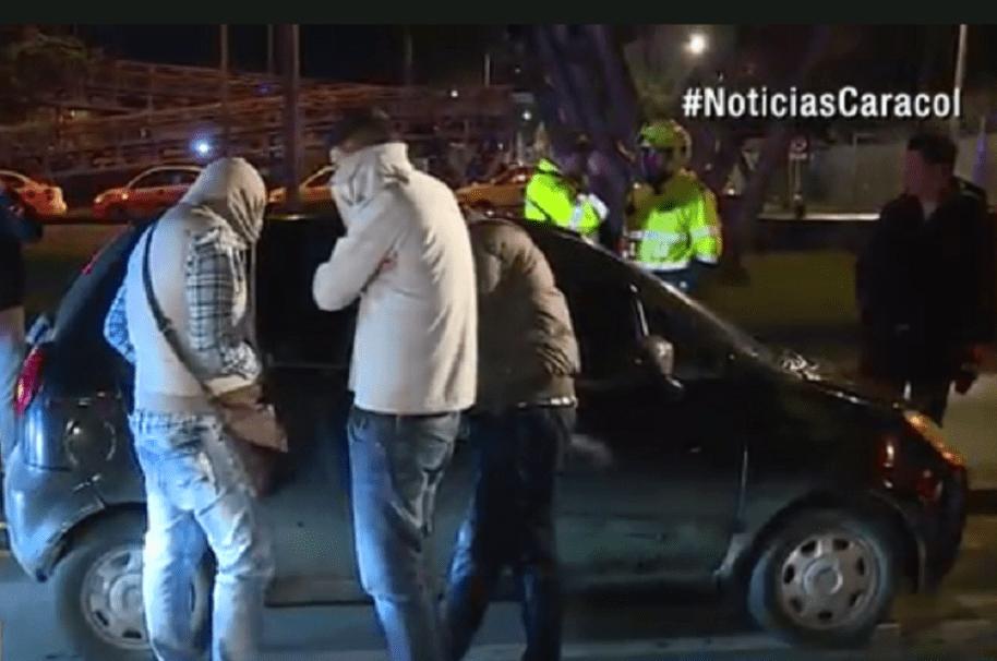 Hombres señalados de robar en el norte de Bogotá