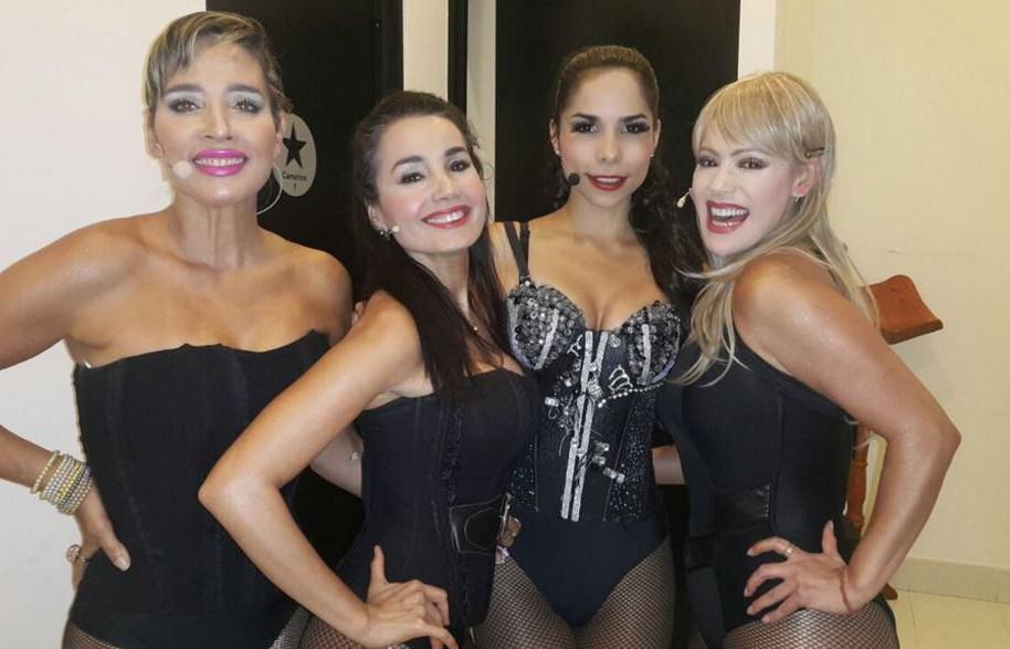 Luly Bossa, Xilena Aycardi, Marcela Rojas y Yolanda Rayo, actrices de 'In-fieles'.