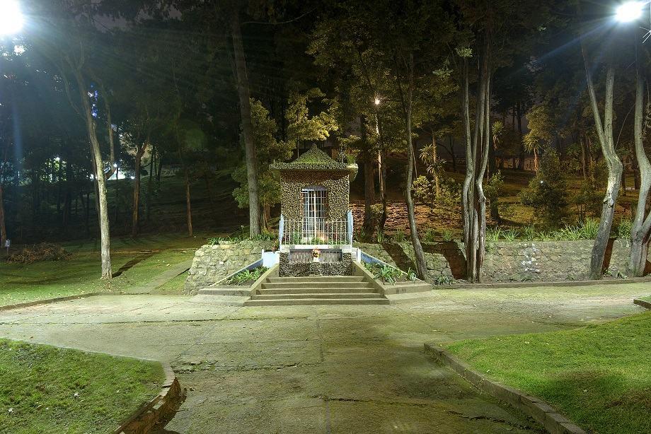 Parque La virgen, después de la iluminación..