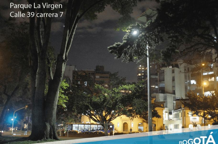 Parque de La virgen iluminado con energía solar