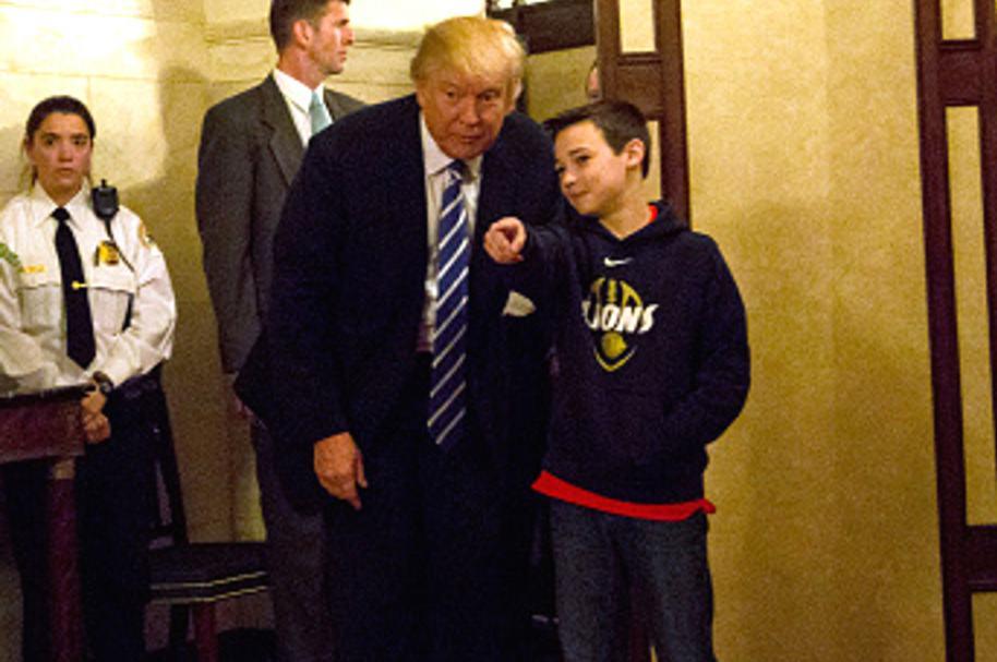Trump y niño