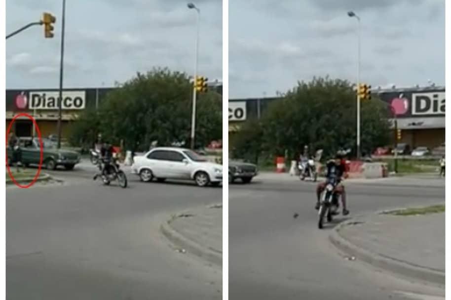 Hombre lanza piedra a ladrón que le había robado su moto. Pulzo.com