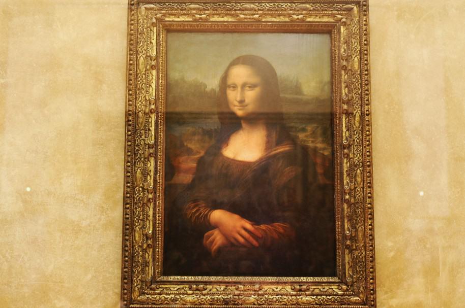 La Mona Lisa, en el museo de Louvre, de París