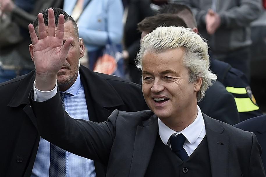 Geert Wilders, candidato presidencial en Holanda.