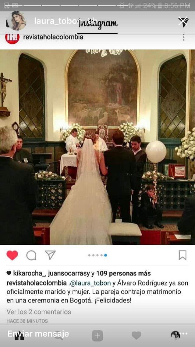 Matrimonio Laura Tobón.