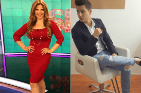 Diva Jessurum, presentadora de  Noticias Caracol, y Pipe Bueno, jurado de 'Yo me llamo'.