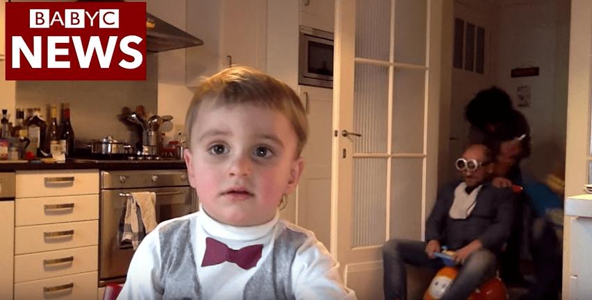 Parodia de entrevista de BBC a profesor interrumpida por sus hijos. Pulzo.com