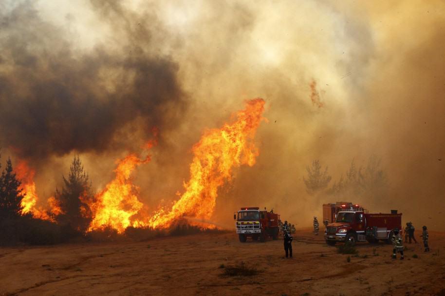 Incendios no dan tregua en Chile
