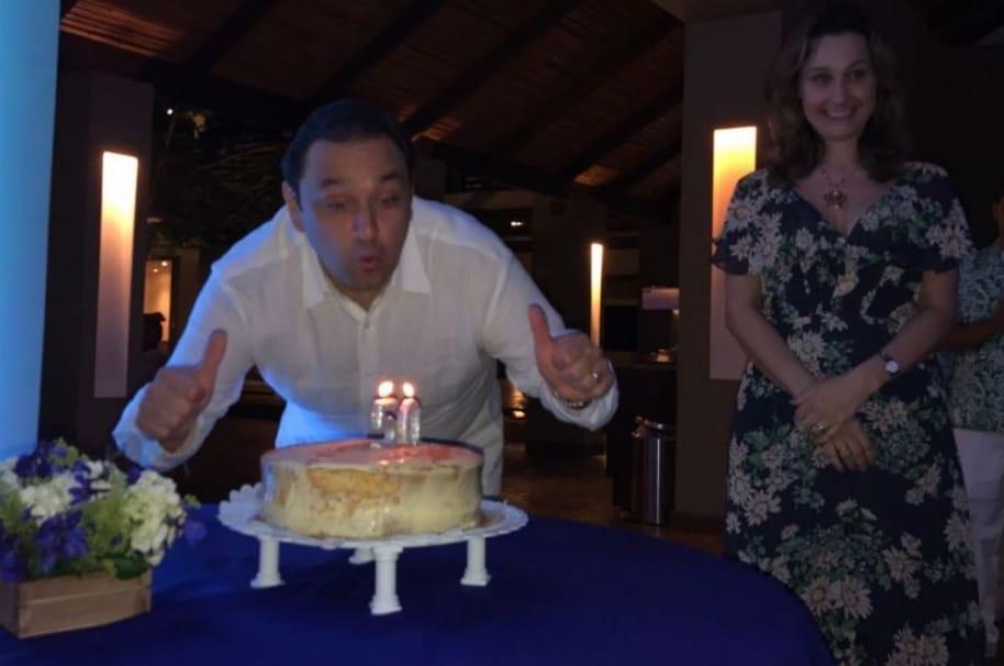 Jorge Alfredo Vargas, presentador de Noticias Caracol, y su esposa, la presentadora de CM& Inés María Zabaraín.