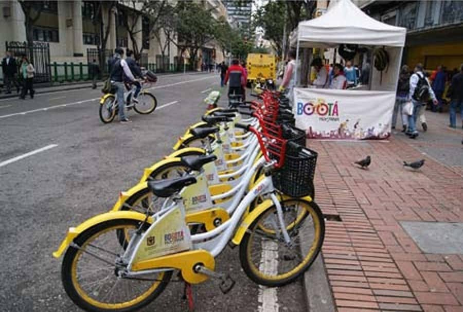 Bicicletas públicas de la carrera Séptima