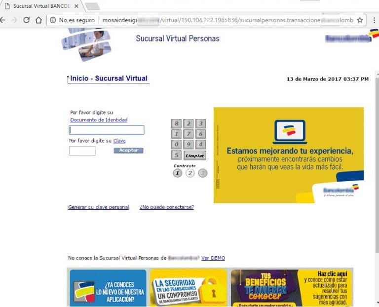 Bancolombia Phishing