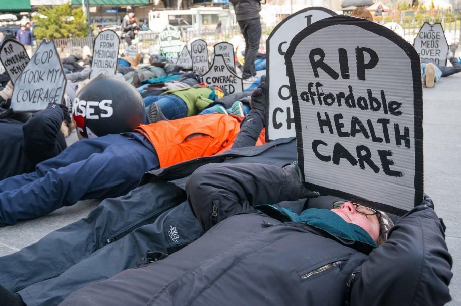 Activists gathered near Brooklyn Borough Hall  where the