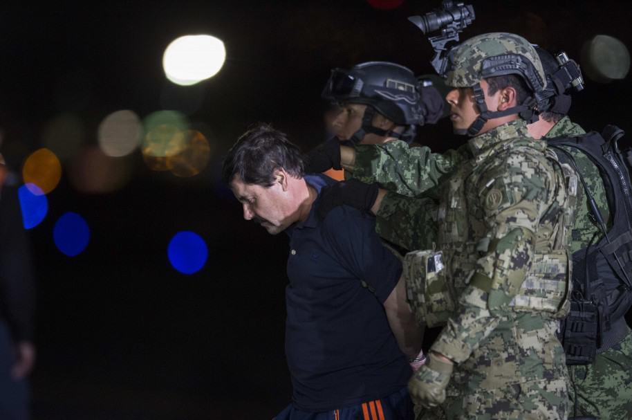 Joaquín 'El Chapo' Guzmán, el día de su captura, en México