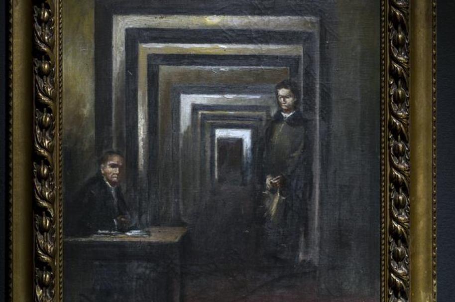 Óleo pintado por Hitler.