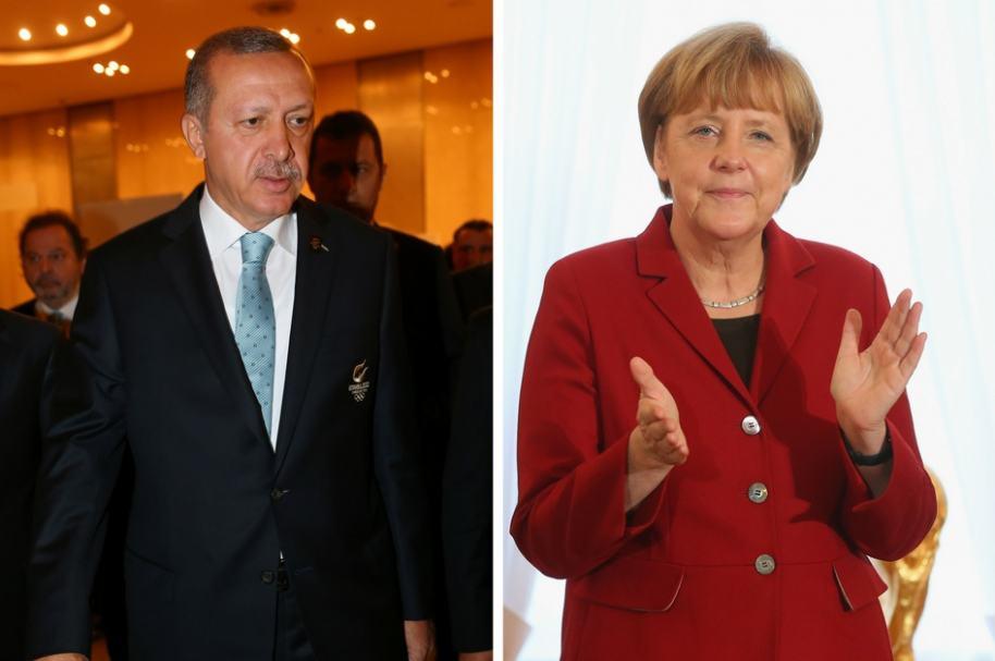 Canciller Ángela Merkel - Presidente Recep Tayyip Erdogan
