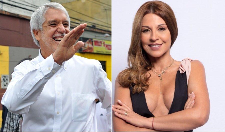 Enrique Peñalosa, alcalde de Bogotá, y Amparo Grisales, jurado de 'Yo me llamo'.