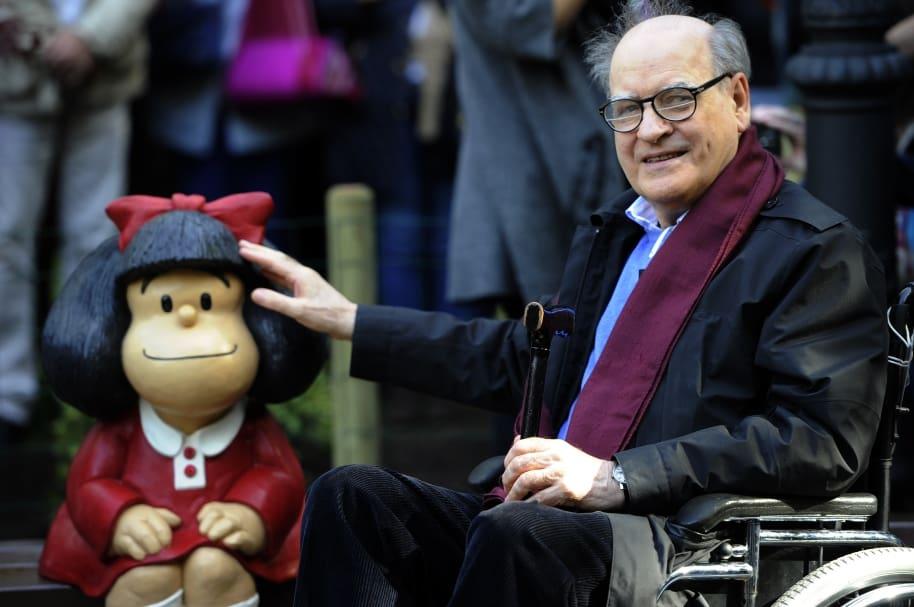 Mafalda y su padre, Quino