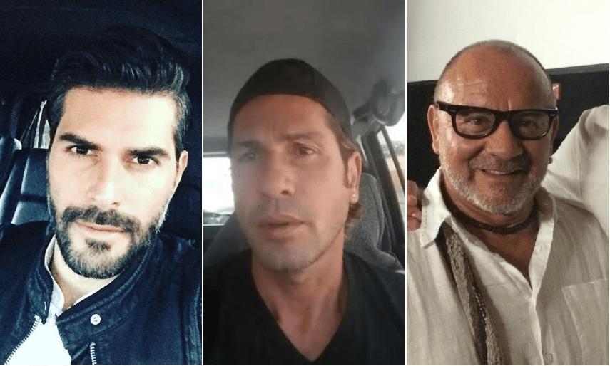 Juan Pablo Llano, Gregorio Pernía y César Mora, actores de 'Sin tetas sí hay paraíso'.