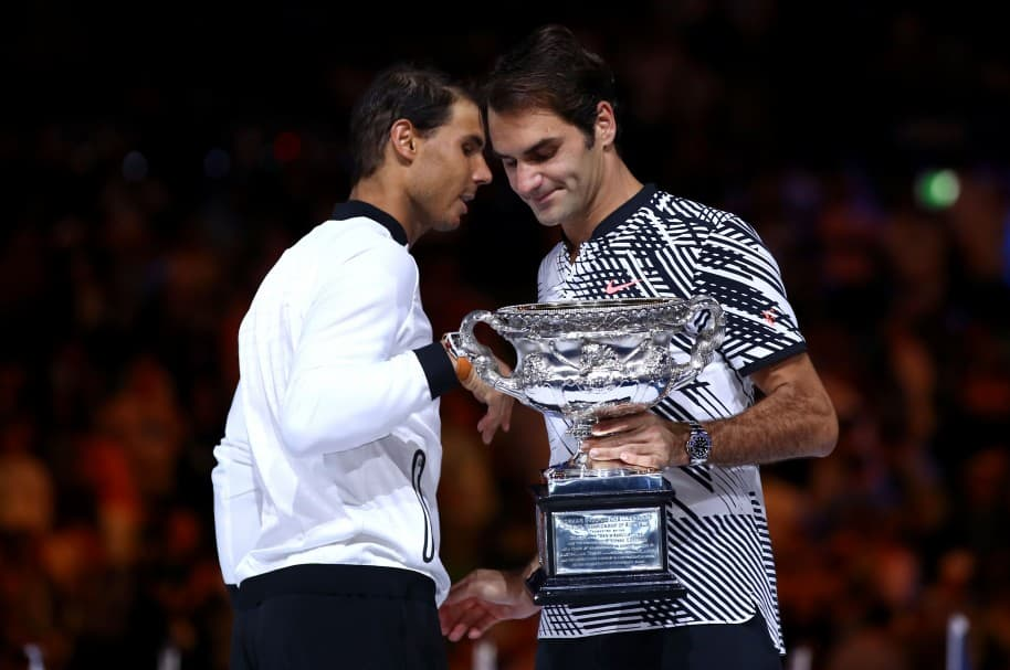 Nadal y Federer, durante la final del Abierto de Australia 2017