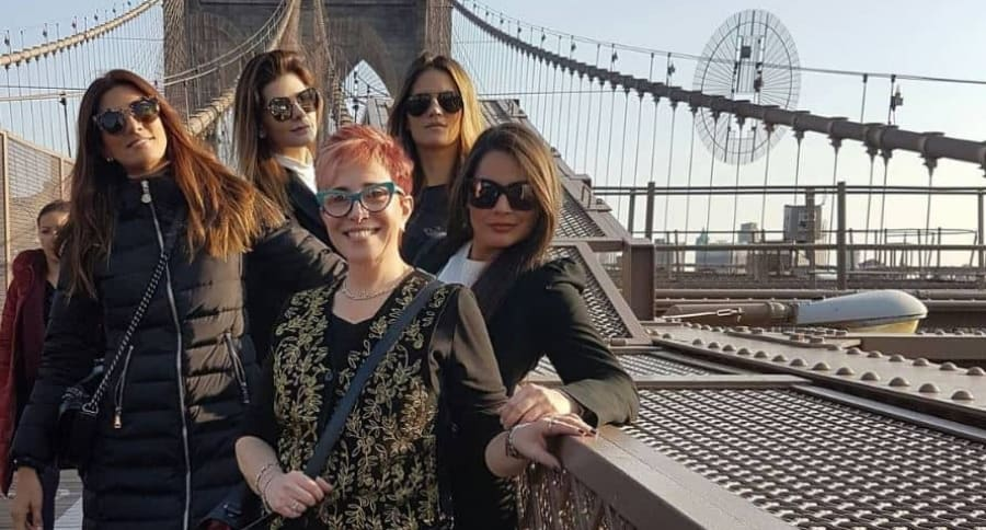 Andrea Serna, Carolina Cruz, Ángela Cardozo, Yaneth Waldman y Jessica de la Peña.