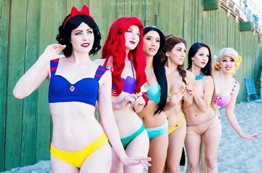 Bikinis princesas Disney
