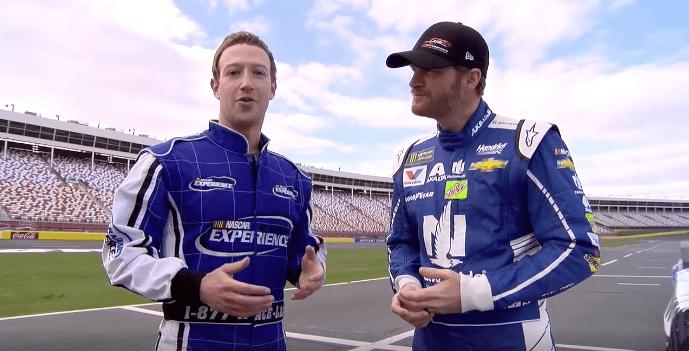 Mark Zuckerberg y el piloto piloto Dale Earnhardt Jr. Pulzo.com