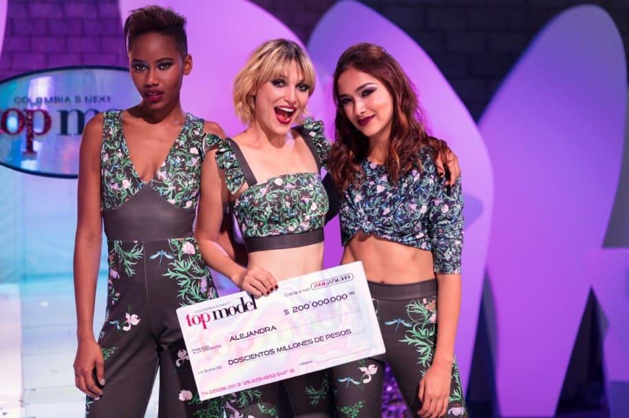 Sasha Palma, Alejandra Merlano y María Camila Giraldo, finalistas de 'Colombia's next top model'.