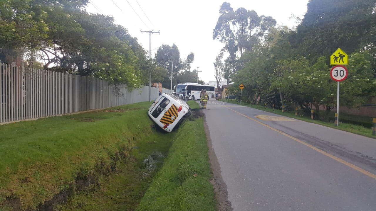 Ruta escolar accidentada en el norte de Bogotá