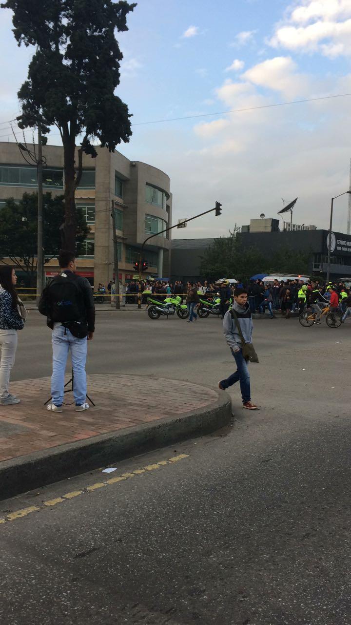 Accidente fatal en la Av. carrera 68 con calle 17