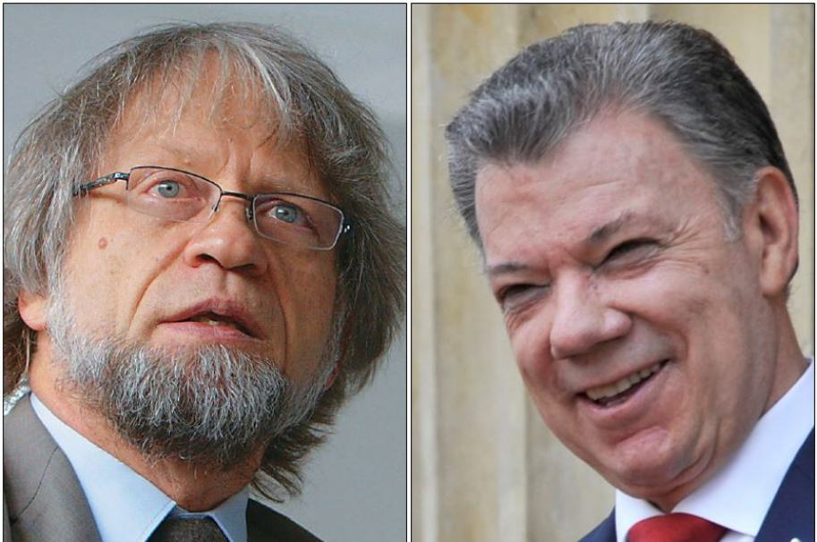 Antanas Mockus y Juan Manuel Santos.
