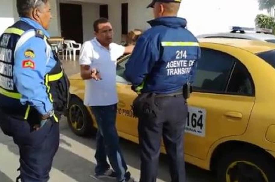 Sanción a taxista