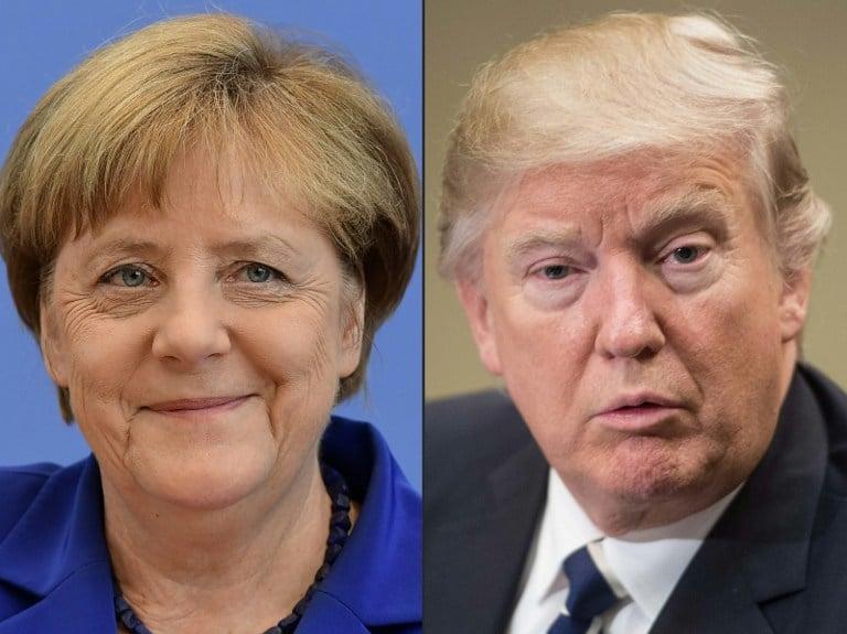 Canciller alemana y Presidente de EE.UU.