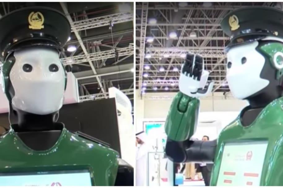 Primer policía robot del mundo.