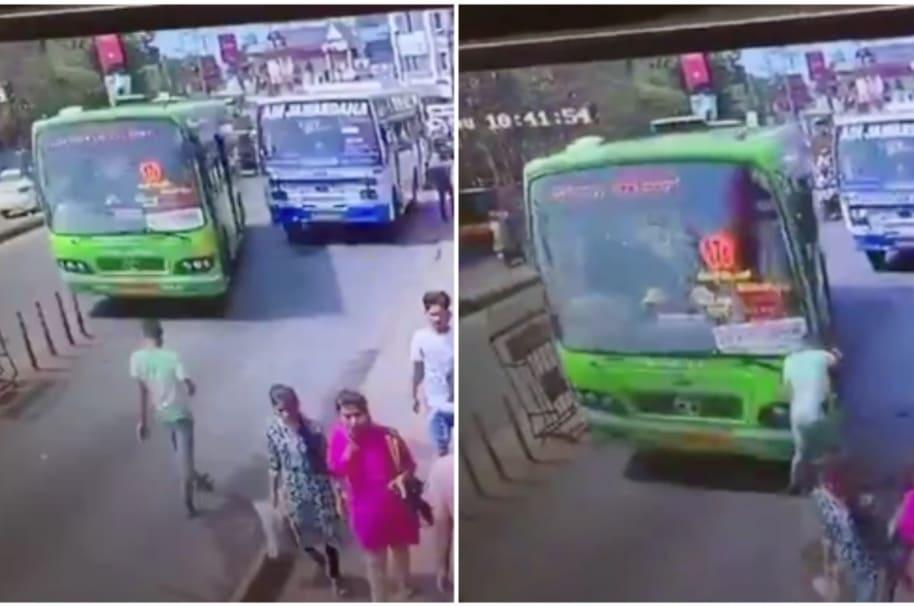 Hombre es arrollado en India.