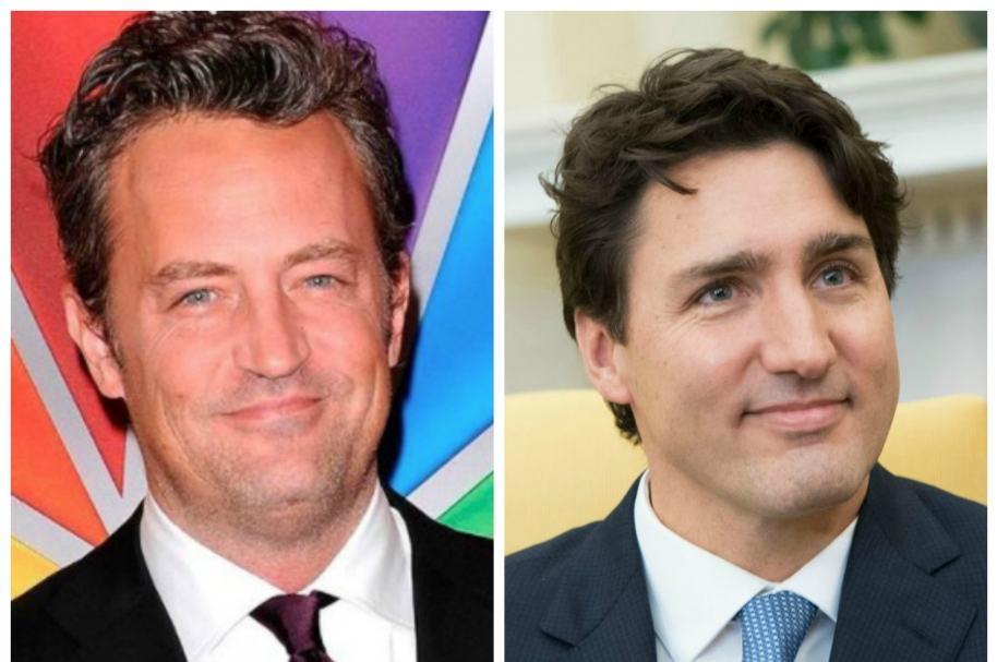 Matthew Perry y Justin Trudeau, primer ministro de Canadá. Pulzo.com