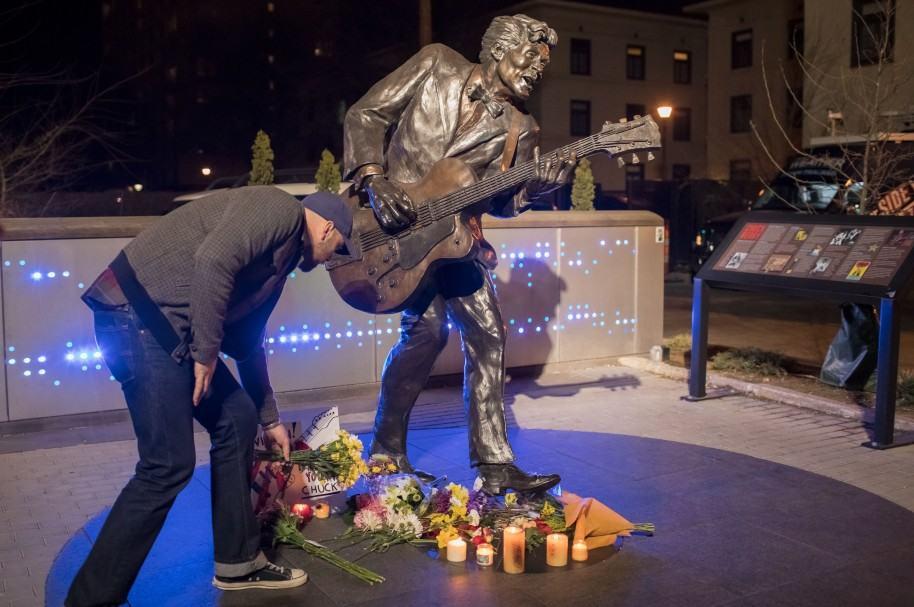 Chuck Berry Memorial en San Luis, Estados Unidos