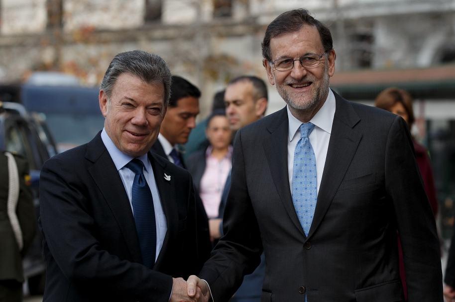Juan Manuel Santos y Mariano Rajoy