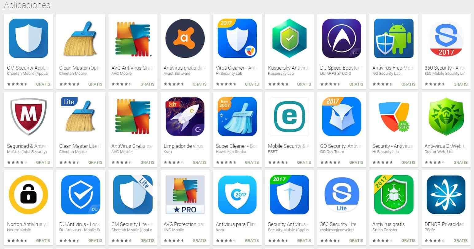Aplicaciones de antivirus móvil