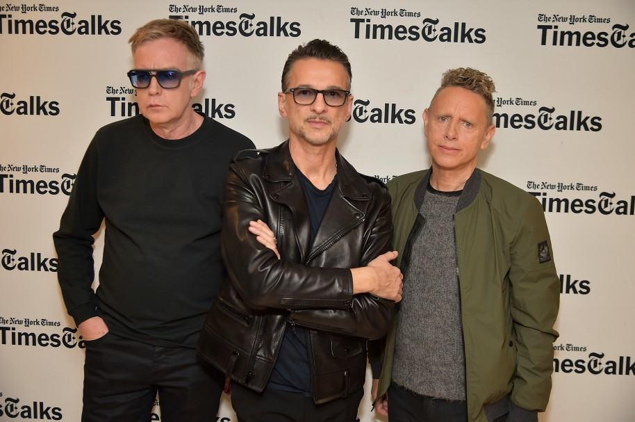 Andy Fletcher, Dave Gahan y Martin Gore de Depeche Mode