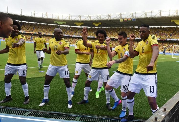 Colombia celebra gol