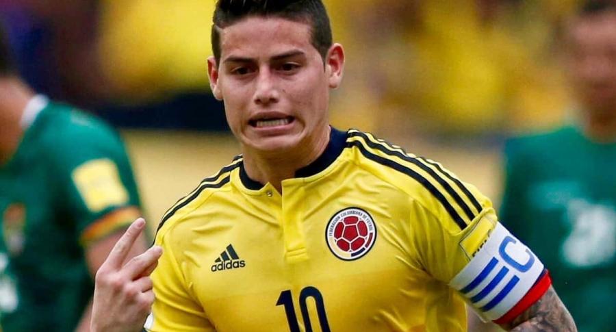 El gesto de James al marcar a Bolivia