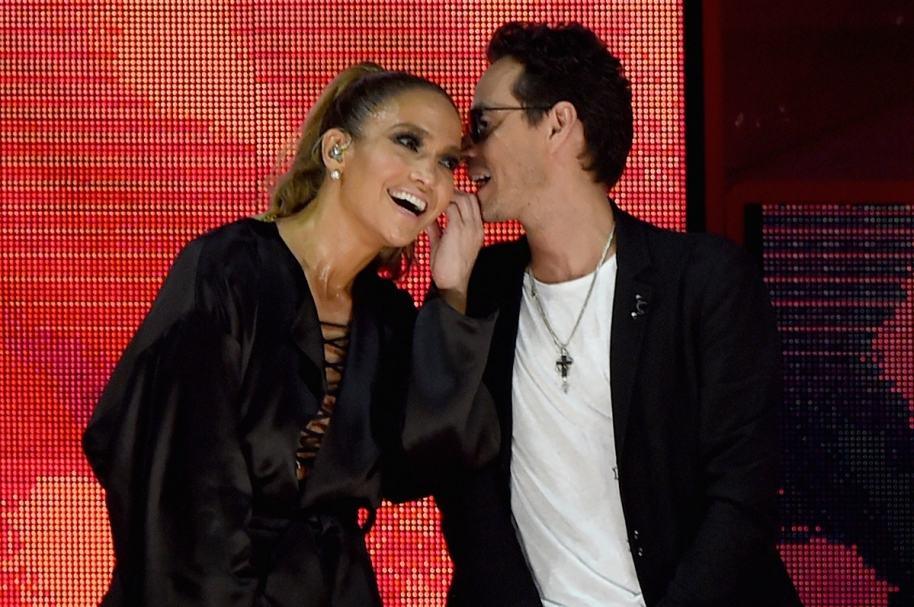 Jennifer Lopez y  Marc Anthony, cantantes y exesposos.