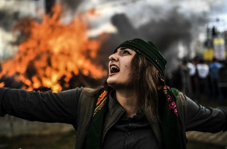 Así conmemoraron los kurdos el primer día de la primavera en Turquía.