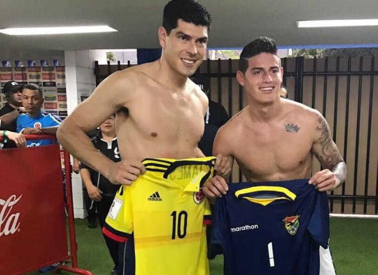 James Rodríguez y Carlos Lampe