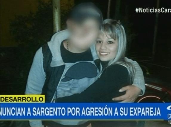 Angie Rodríguez, joven que habría sido agredida por su expareja, un sargento del Ejército Nacional.